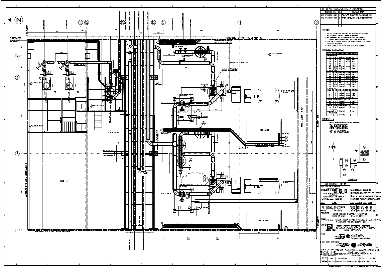 Piping Layout Drawing Wiring Library Freezer Diagram Model Ts In Addition True Gdm 26 Customized Ga Produced Using 3d Plant Design Software